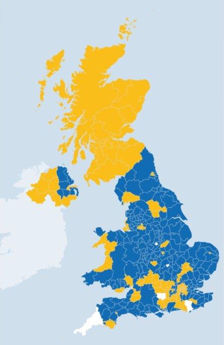 Votes area map