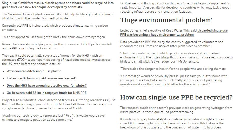 UK PPE-recycle @BBCNews