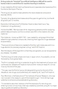 AI-created-medicine @BD_Chamber,@BBCNews