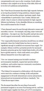 SciTech74 White House highlights manganese as potential preferred battery element contender @MiningWeekly,@Element25Ltd