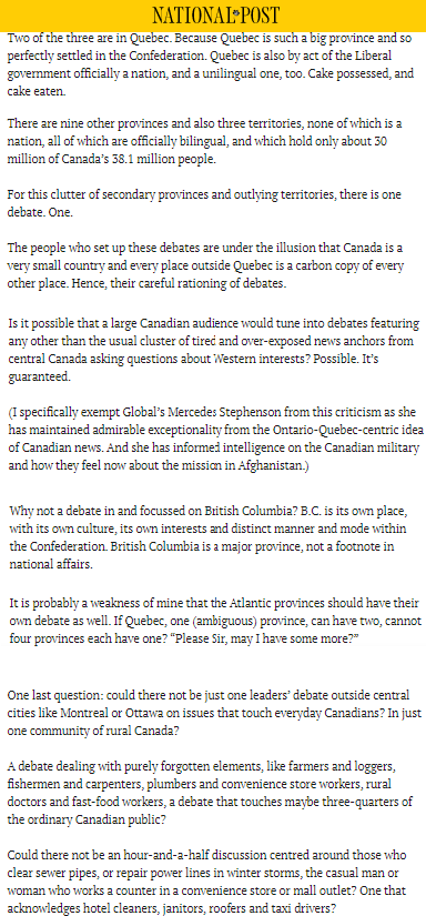 Canada46 Two debates for Quebec @nationalpost