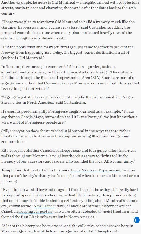 Canada48 What Toronto can learn from Montreal @TorontoStar,@DanicaSamuel