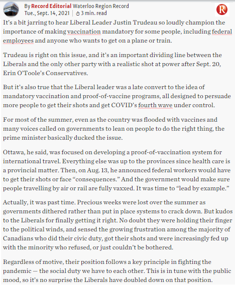 Canada54 editorial- mandatory vaccinations @WR_Record