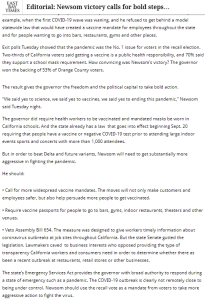 World188 Editorial-Newsom victory calls for bold steps to fight COVID-19 @EastBayTimes,@mercnews