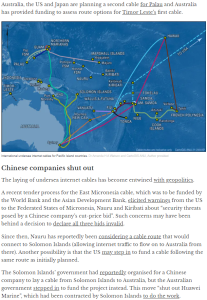 World195 how the laying of undersea #internet cables has become entwined with geopolitics in the Pacific @anudpa,@ahawatson